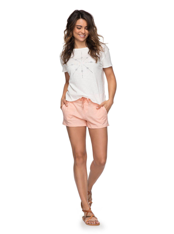Roxy Womens Sunset Pie - Shorts - Women - M - Pink Tropical Peach M