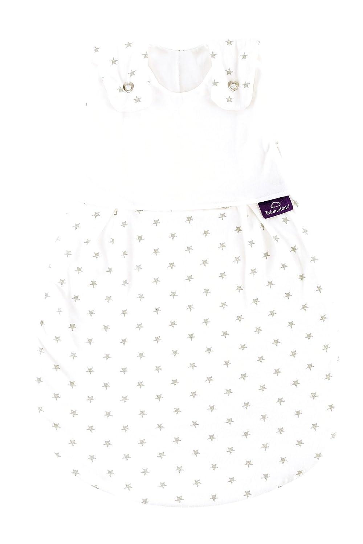 Träumeland S0101407 Außenschlafsack LIEBMICH Sternchen grau, Größe 80 86, mehrfarbig