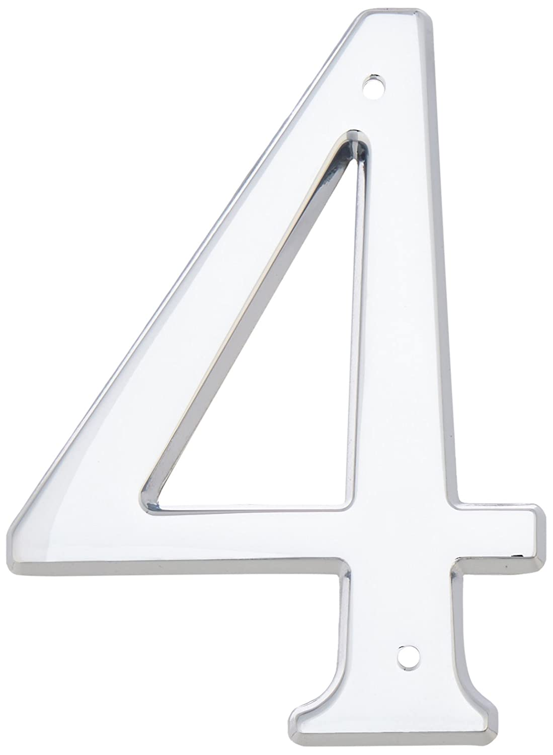 Baldwin 90674260 74# 4 House Number, Bright Chrome