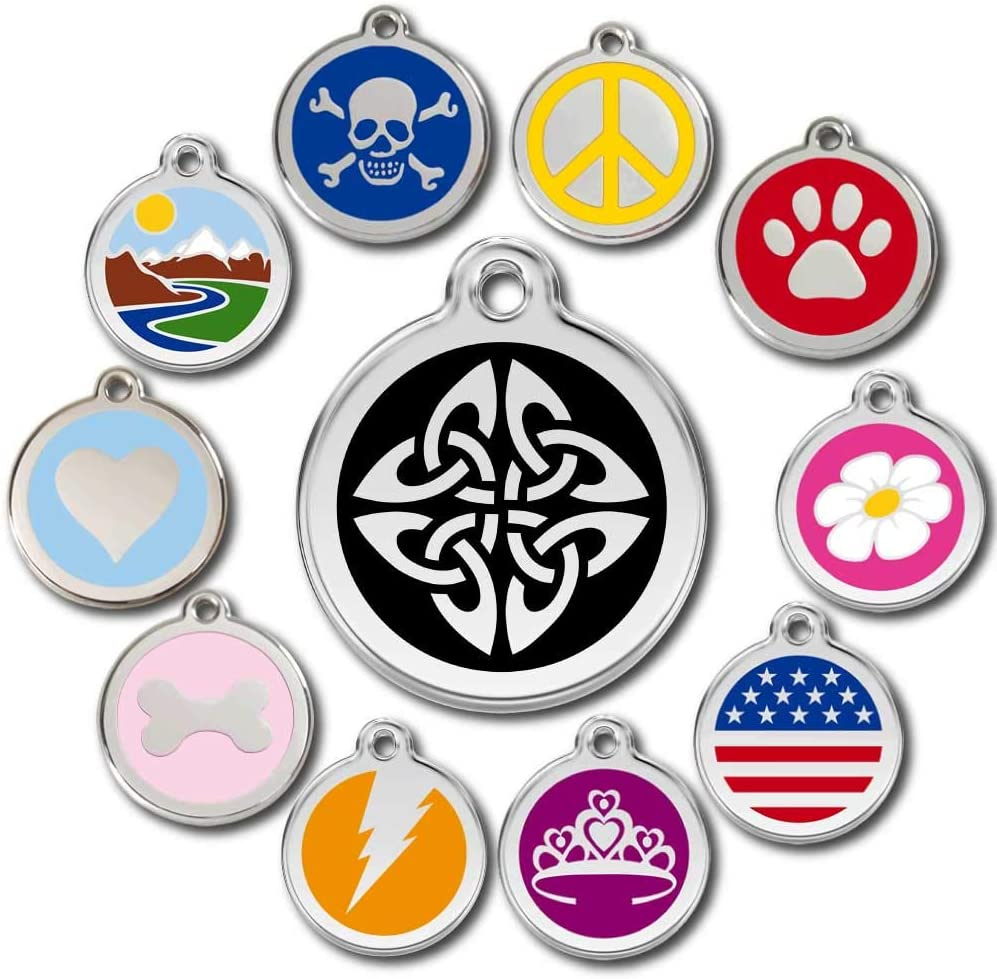 Love Your Pets Deluxe Pet ID Tags - Deep Engraved Stainless Steel - Engraving Will Last – with Tracking - 120 Designs of Pet Tags, Dog Tags, Cat Tags