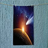 swim towel Comet Tail Approaching Planet Mars Star Cosmos Dark Solar System Super Soft w13.8 x H27.5 INCH