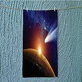 swim towel Comet Tail Approaching Planet Mars Star Cosmos Dark Solar System Super Soft w13.8 x H27.5 INCH