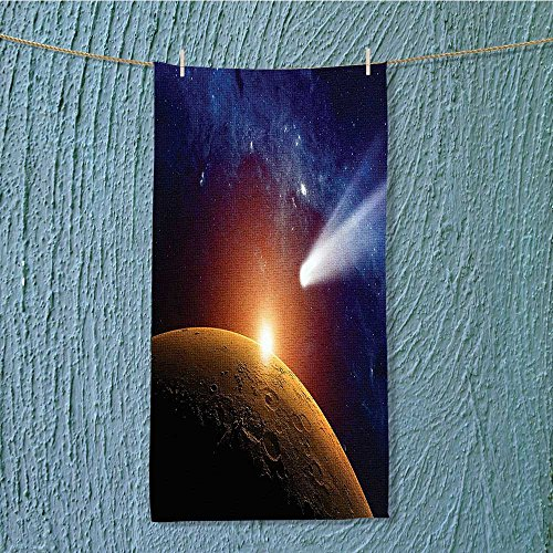swim towel Comet Tail Approaching Planet Mars Star Cosmos Dark Solar System Super Soft w13.8 x H27.5 INCH by SeptSonne