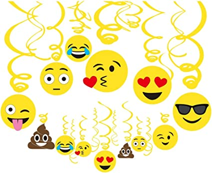 Kids Quality Smiley Face Pattern Birthday Party Decorations Balloons 6 Pack