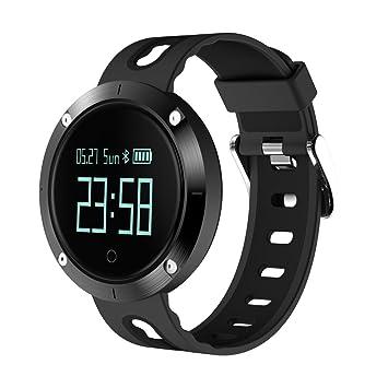 Teckey Montre Connectée pour iPhone et Android Bluetooth Smartwatch étanche IP67 Montre Fitness Montre Sport