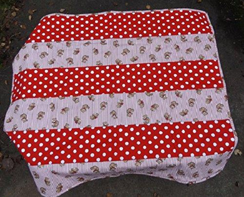 Amazon com: Handmade Teddy Bear Quilt - Strip Quilt - Modern Colors