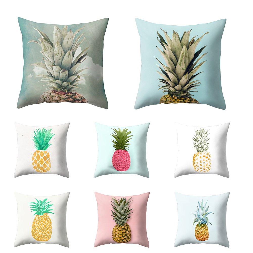Dekoration M f/ür Sofa Motiv Ananas Drache modernes Design Bett dragonaur Kissenbezug 1#