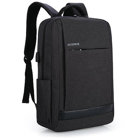 Mocha weir Negocio del ordenador portátil Mochila Niños y niñas School College Backpack (Negro)