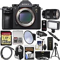 Sony Alpha A9 Wi-Fi 4K Digital Camera Body with 24-240mm Lens + 128GB Card + Backpack + Flash + Tripod + Filters + Kit