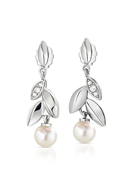 design senza tempo seleziona per autentico Prezzo di fabbrica 2019 Morellato Orecchini da donna, Collezione Gioia, in acciaio, perle coltivate  e cristalli - SAER23