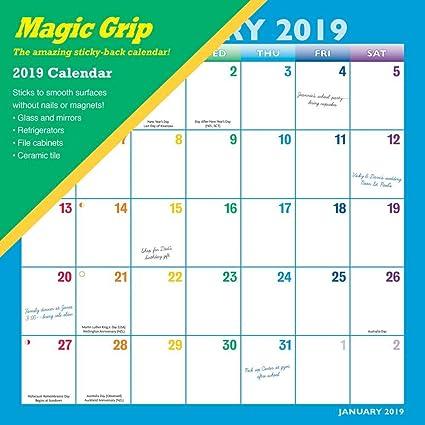 Calendario Rainbow.Rainbow 2019 Calendario De Agarre Magico Amazon Es