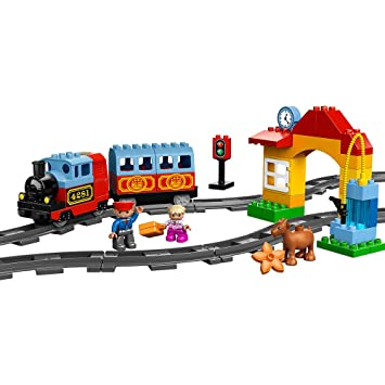 Amazon Com Lego Duplo Town My First Train Set 10507 Toys Games