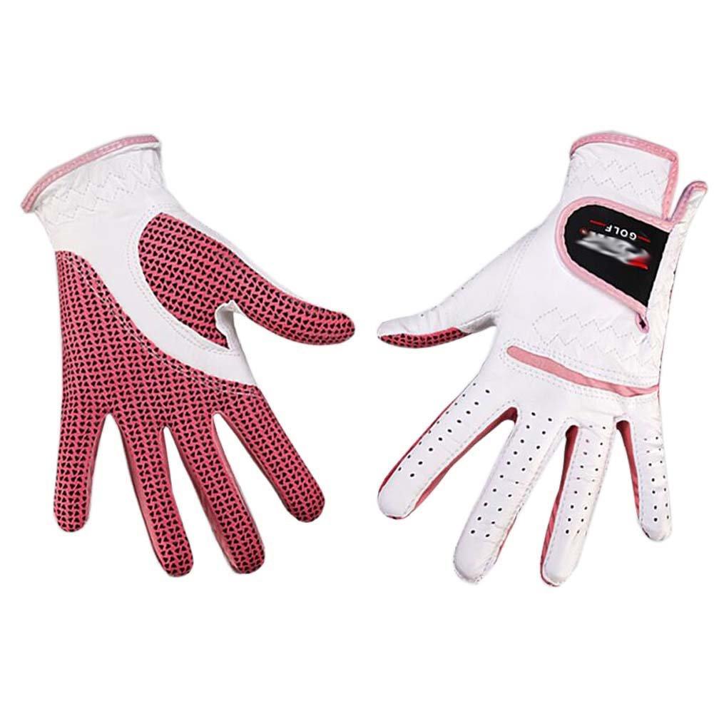 プロフェッショナルレディースゴルフグローブゴルフギフト、ホワイト&ピンク(# 19 )   B01K1ZA7YM
