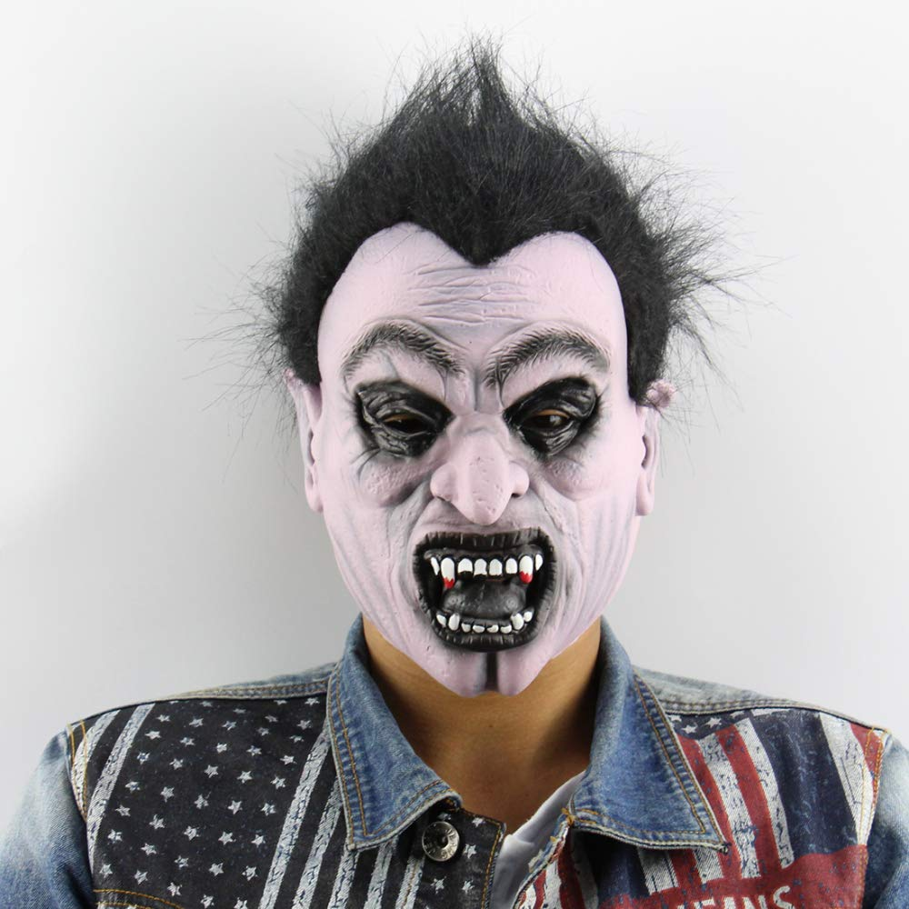 Circlefly Disfraces de Halloween Vampiro máscara Realista látex Bola Rendimiento apoyos Horror máscara Fantasma
