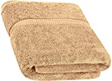 Cotton Bath Towels (Beige, 30 x 56 Inch) Luxury Bath Sheet Perfect for Home, Bathrooms, Pool and Gym Ringspun Cotton by Utopia Towels