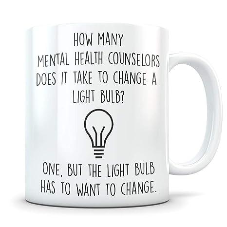 Amazon.com: Regalo de consejero de salud mental, taza de ...