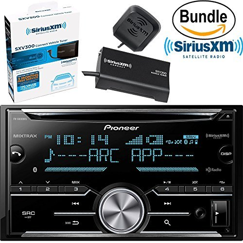 Pioneer FH-X830BHS Double Din, 2DIN CD Receiver with Built-in Bluetooth, HD Radio & SiriusXM SXV300V1 Tuner & Antenna (SiriusXM Value Bundle)