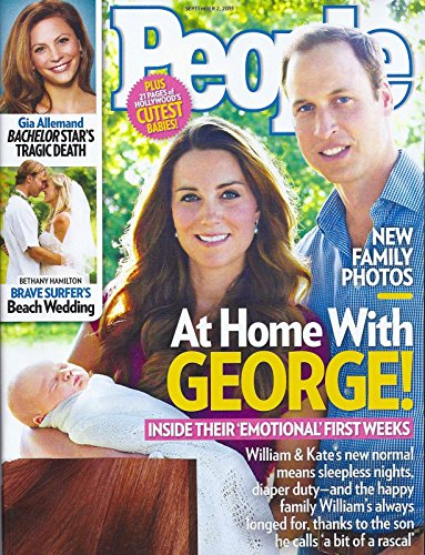 Prince William, Princess Kate Middleton & Prince George l Gia Allemand (The Bachelor) l Bethany Hamilton & Adam Dirks - September 2, 2013 People Magazine