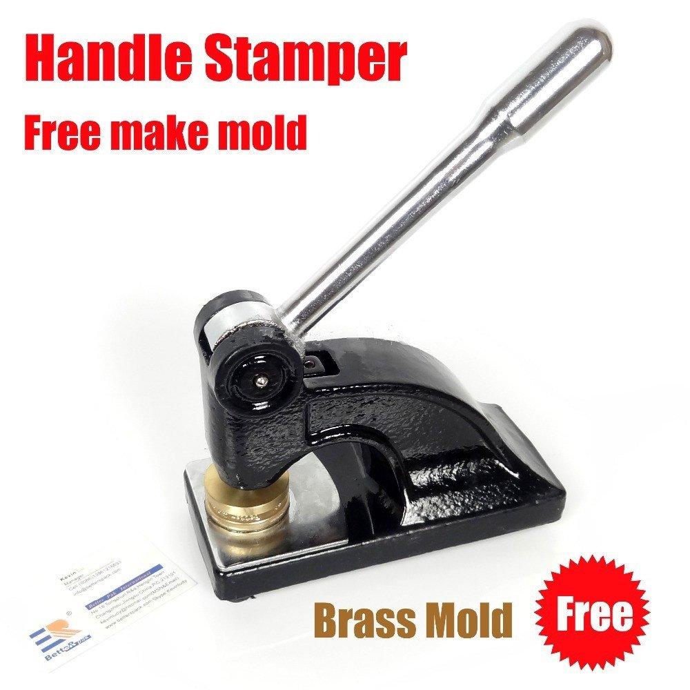BS45 Manual Desktop Steel Stamp Seal Machine High Pressure Stamper(mold plate diameter in 45mm)