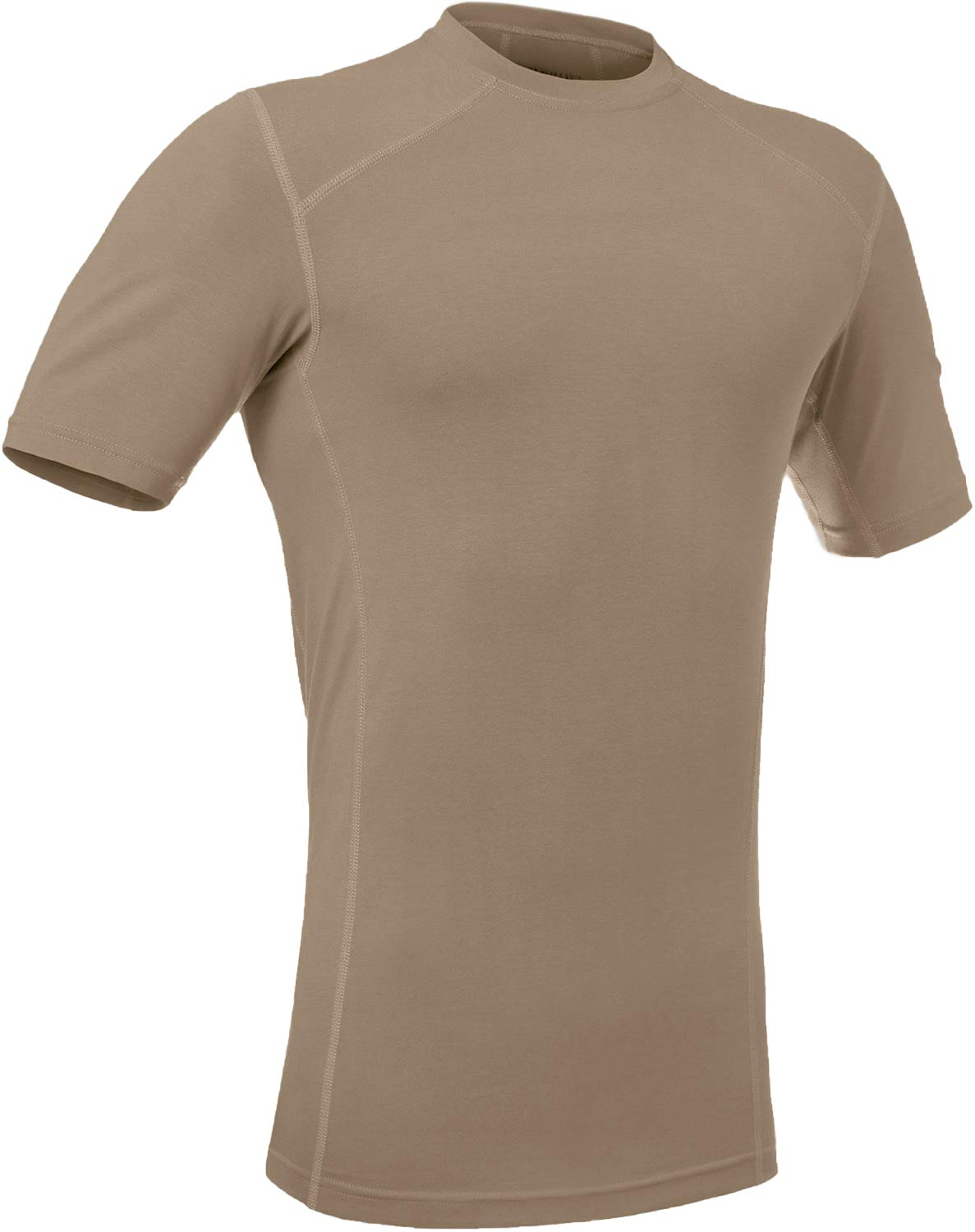 281Z Military Stretch Cotton Underwear T-Shirt - Tactical Hiking Outdoor - Punisher Combat Line (Tan, Large) by 281Z