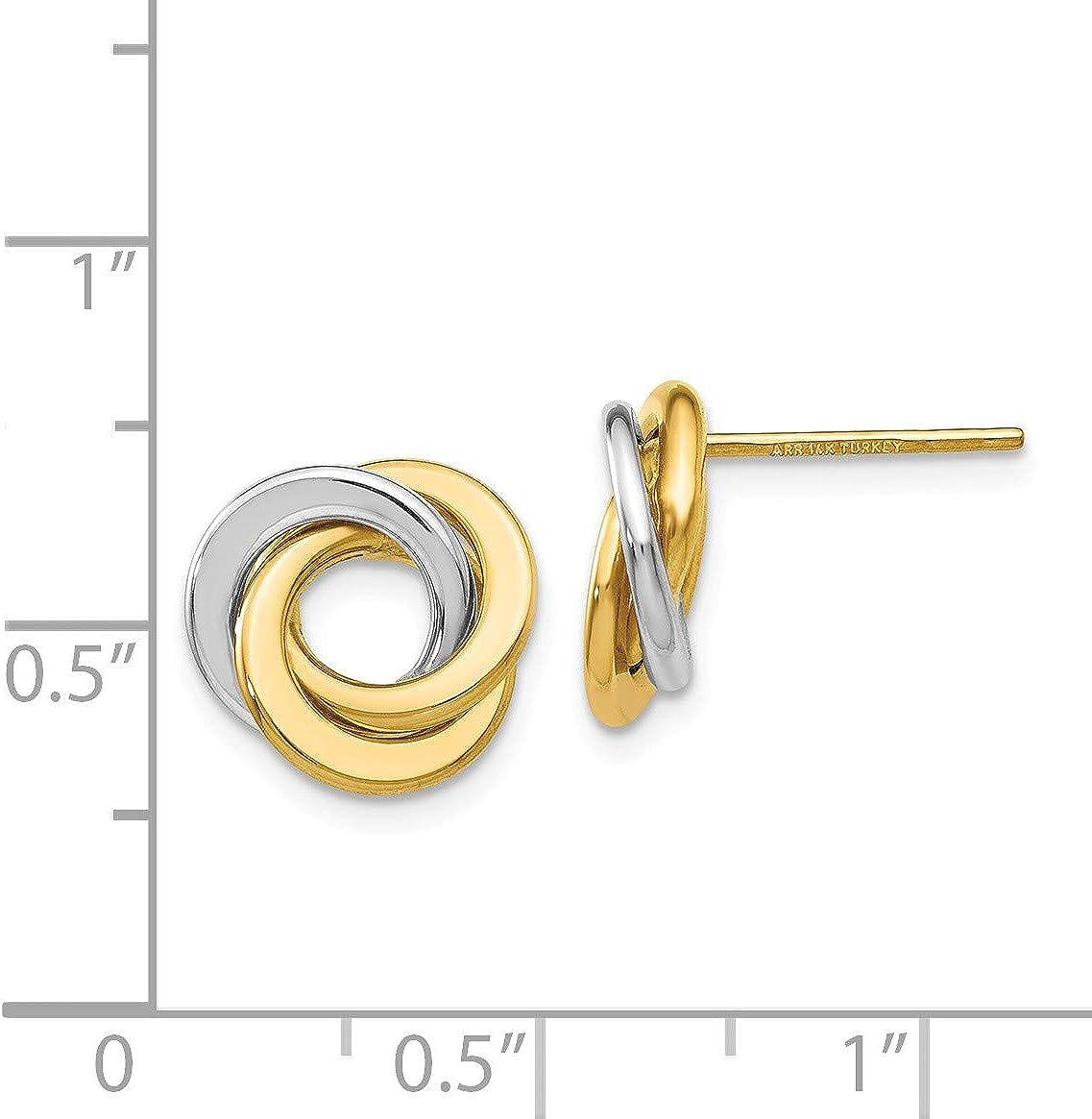 Sterling Silver Madi K Rhod-P 6-7mm White Round FWC Pearl Stud Earrings