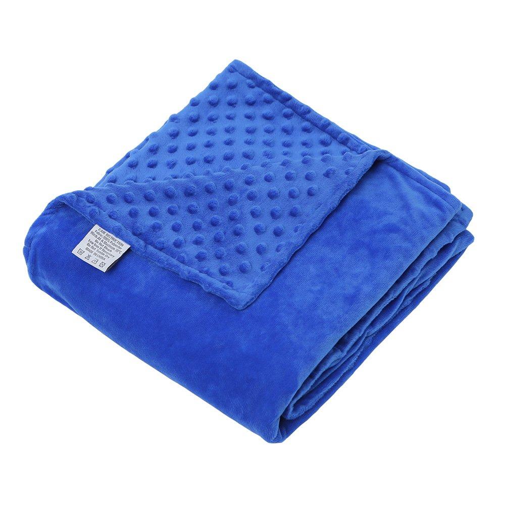 hiseeme removable duvet cover for weighted blanket blue super soft dot minky ebay. Black Bedroom Furniture Sets. Home Design Ideas
