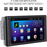 Qiilu Universal 7 Pulgadas 2 DIN Reproductor Multimedia MP5 Bluetooth Radio Estéreo…