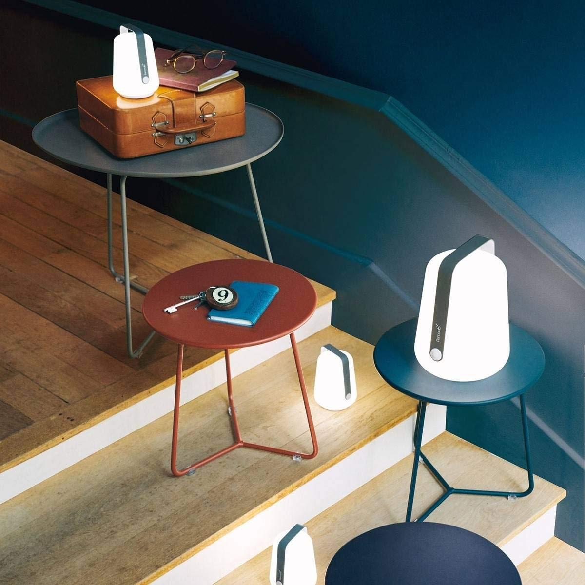 altezza 12 cm con batteria Laguna Blu senza fili Set di 3 mini lampadine per esterni Fermob Balad