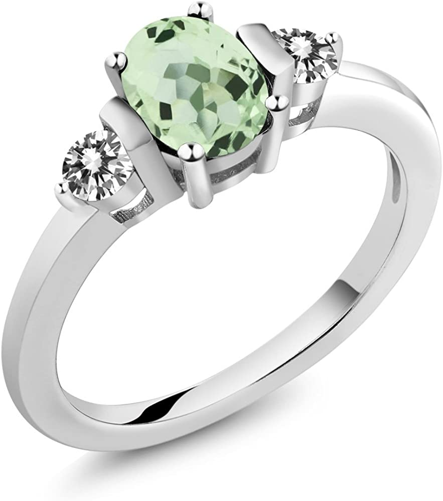 Details about  /3.48 Ct Prasiolite White Created Sapphire 18K Yellow Gold Plated Silver Ring