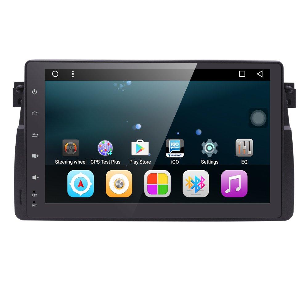 Android 6.0システム9インチカーステレオPlayer Special for BMW e46 3シリーズ1998 – 2005年のダッシュGPSラジオステレオ7インチ1 DINマルチメディアタッチ画面Bluetooth 4.0サブボリュームコントロール B0777K88MK