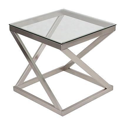 Amazon.com: Ashley Furniture Signature Design - Coylin Glass Top ...