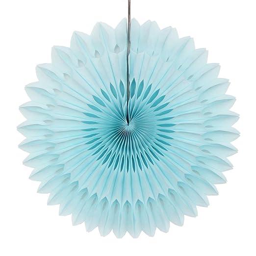 Decoration bapteme garcon chambre deco bleu diy pour bebe rosace boule pompon de soie trèfle papier amazon fr cuisine maison
