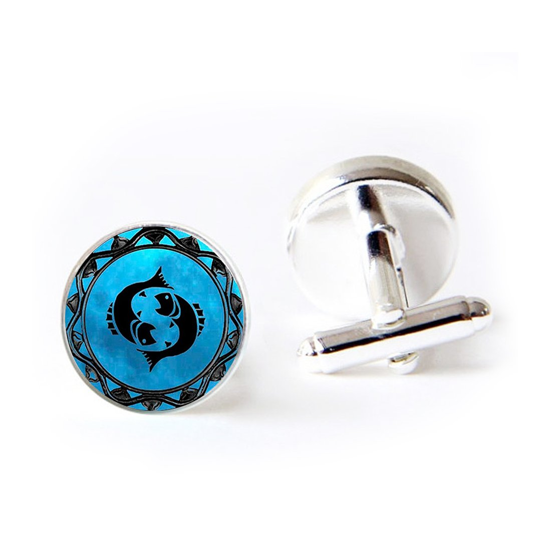 JEANCZ Jewelry Stainless Cufflinks Pluto Charm Dwarf Planet Pluto Space ProbeClassic Tuxedo Shirt Cufflinks with Elegant Storage Display Box LCZ0124-BSSLY-SL-LSZBS-0353