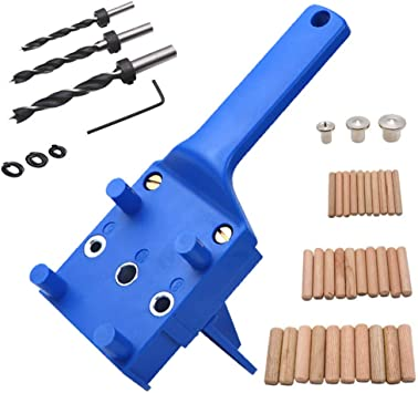 Handheld Woodworking Doweling Jig Drill Locator Guide Drilling Hole Saw Template