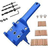 41 Stks Houtbewerking deuvel Jig Kit, 6/8/10 mm Handheld Hout deuvel Boren Gids, Boor Gids Metalen Mouw Hout Boren…