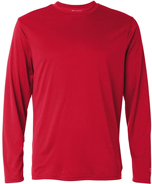 d7d09ad0bcbe Champion CW26 Double Dry Performance Long Sleeve T-Shirt at Amazon ...