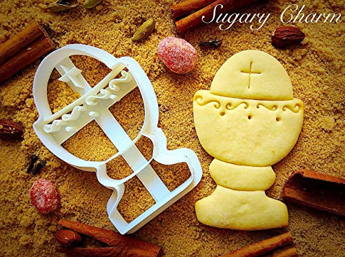 Chalice Host Cookie Cutter - Communion Cookies Mold - Chatolic Shaped Dough Plastic Cutters - Jesus Christ and Angel Themed Biscuits for Chapel by Sugary Charm - Religious Thanksgiving Baptism Shapes