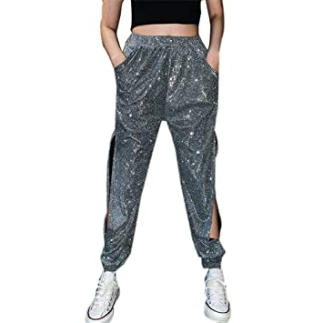 Sijux Pantalón de Carga de Mujer de Hip Hop Pantalones de Lado ...