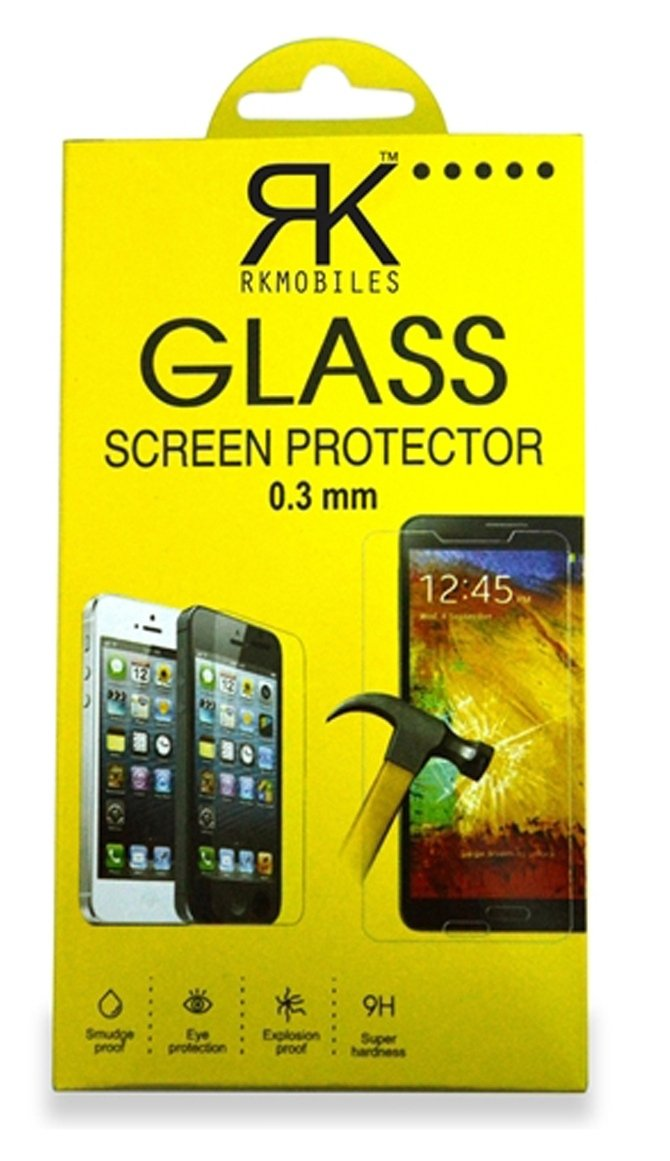 RKMOBILES HTC Desire 828 Tempered Glass, 9H Hardness Ultra Clear, Bubble Free, Anti-Fingerprints & Oil Stains Coating With Cleaning Kit