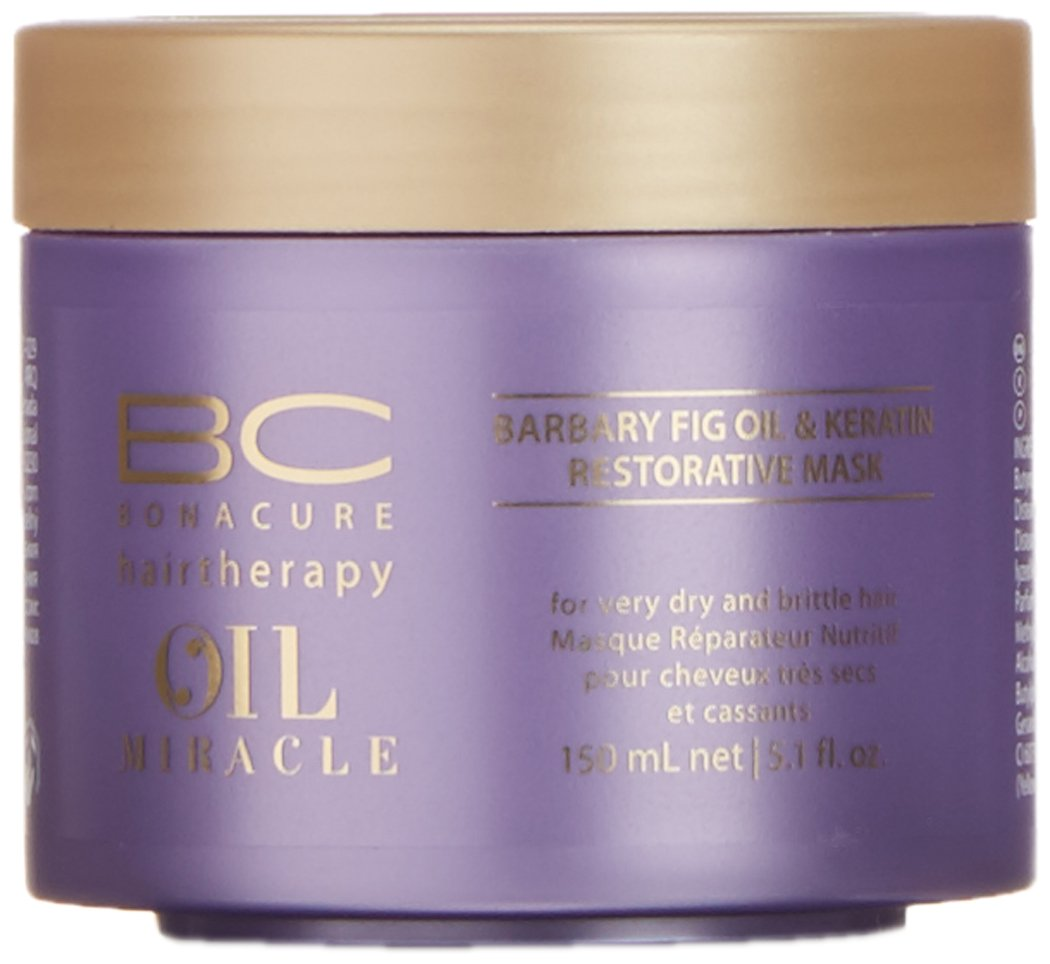 Schwarzkopf Bonacure Oil Miracle Barbary fig oil and Keratin Mask, 1er Pack, (1x 0,15 L) Schwarzkopf Professional 10401 4045787269093_Blanco