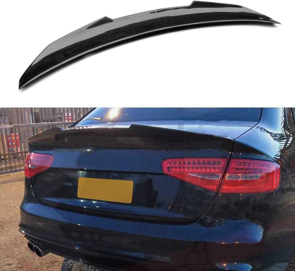 Matte Carbon Fiber Fits 13-16 Audi A4 B8.5 Sedan STK Style Front Bumper Lip