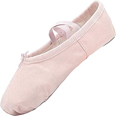 Toddlers Womens Girls Kids Ballet Canvas Ballet Flats Dance Shoes Slippers Shoes