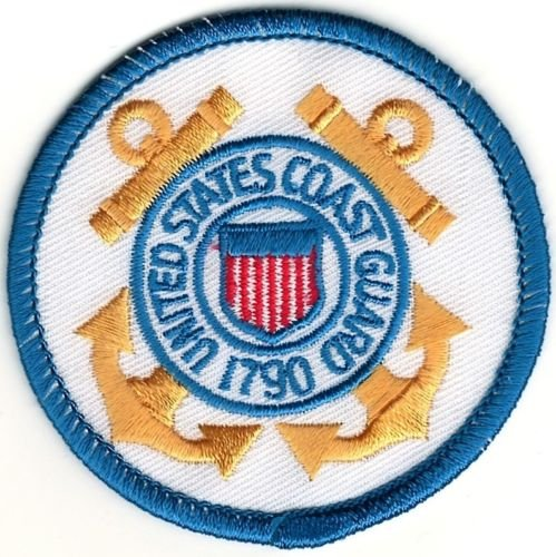 Iron On Embroidered Patch Top Quality Military USCG United States US Coast Guard Seal 2.5