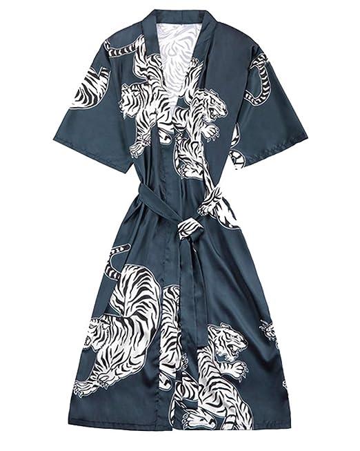 Mengmiao Casual Kimono Mujer Servicio a Domicilio Batas Sección Larga: Amazon.es: Ropa y accesorios