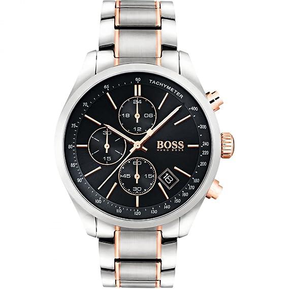 HUGO BOSS Men s Chronograph Quartz Watch with Stainless Steel Bracelet -  1513473  Amazon.co.uk  Watches c247c62a8f8