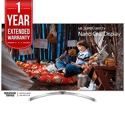 "LG 60"" Super UHD 4K HDR Smart LED TV 2017 Model (60SJ8000) with 1 Year Extended Warranty"