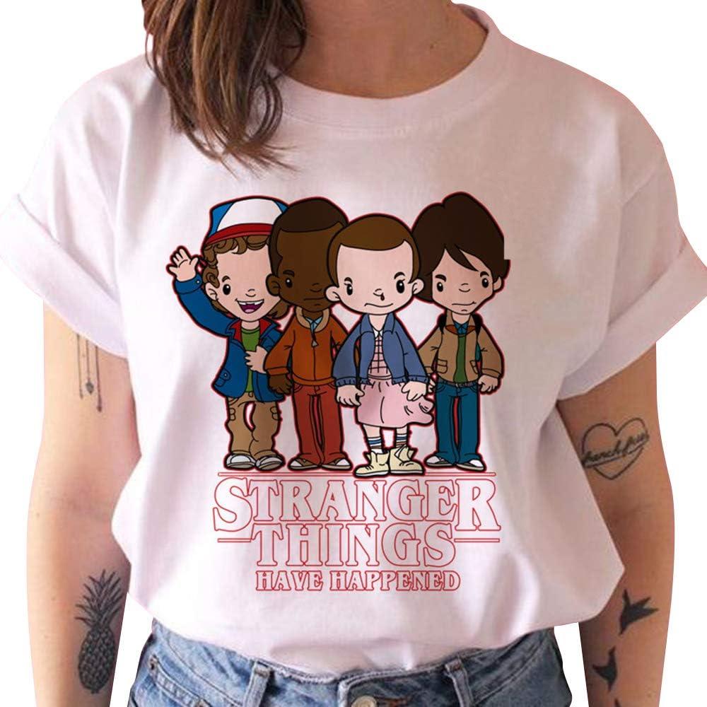 Camiseta Stranger Things Niña, Camiseta Stranger Things Mujer Impresión Manga T-Shirt Abecedario Chicas Camiseta Stranger Things Camisa de Verano Regalo Camisetas y Tops (1, S): Amazon.es: Ropa y accesorios