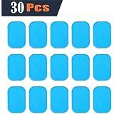 EMS Gel Pad, Électrodes de remplacement de formation,feuille de gel de rechange de formateur de boursouflure d'EMS, 30 feuille de gel de gel(2 pcs/paquet, 15 pcs/paquet)