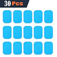 AILIDA EMS Abs Replacement Pads, Abs Trainer Replacement Gel Sheet Abdominal Toning Belt Muscle Toner Ab Trainer Accessories 30pcs Gel Sheets For Gel Pad(2pcs/packs, 15packs/box)