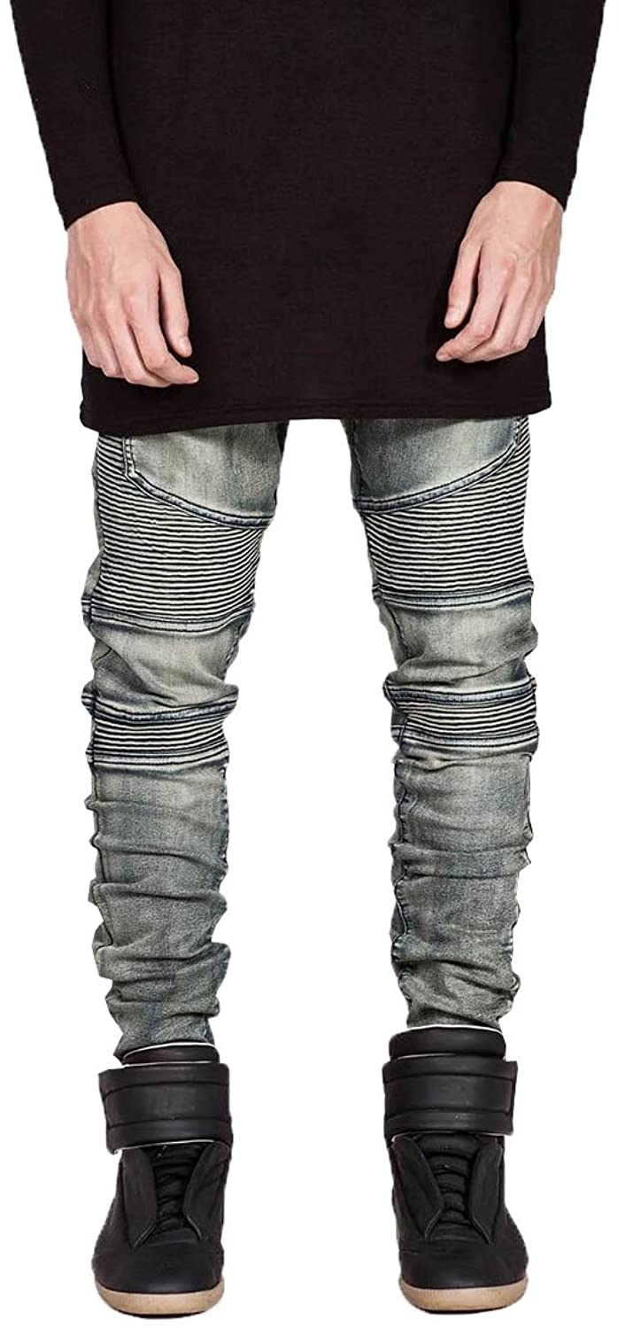 b8b9b8c1254 fashciaga Men s Biker Ripped Jeans 80%OFF - bellefontaine.lu